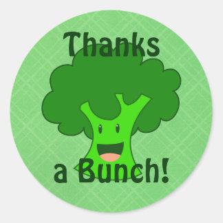 Broccoli Bunch Round Sticker