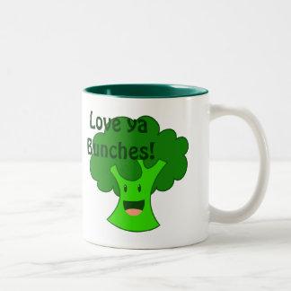 Broccoli Bunch Two-Tone Coffee Mug