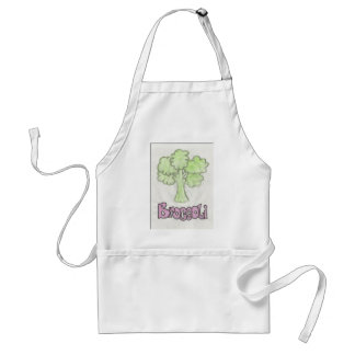 broccoli by imagining victoria adult apron