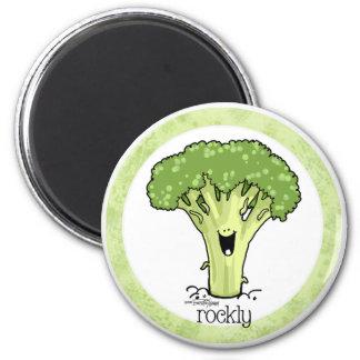 Broccoli Cartoon - Veggie magnet