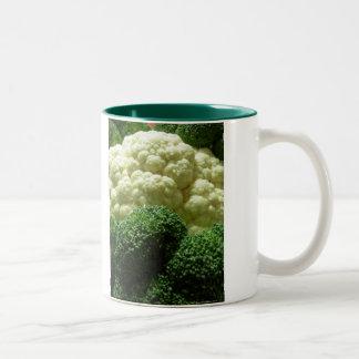Broccoli & cauliflower Two-Tone coffee mug