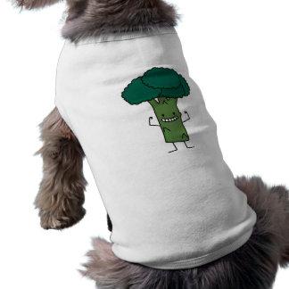 Broccoli Flexing happy tree head green vegetable T-Shirt