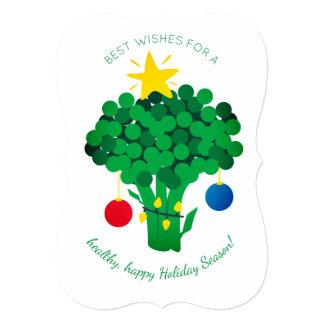 Broccoli food vendor vegan Christmas card