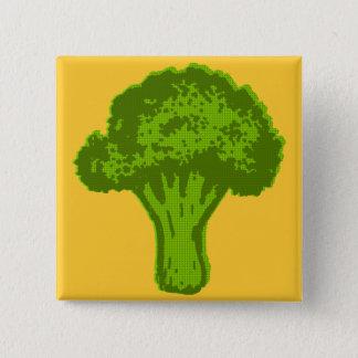 Broccoli Graphic Pinback Button