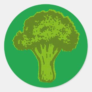 Broccoli Graphic Round Sticker