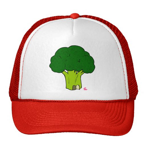 Broccoli House & the Pink Bunny Doodle Art Hat