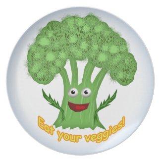 broccoli kids plate
