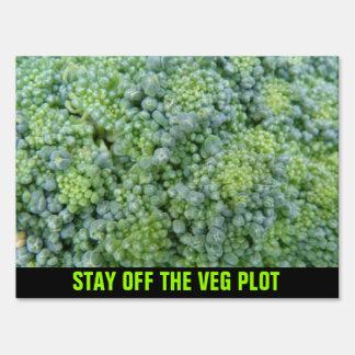 Broccoli Macro Custom veg Plot Sign
