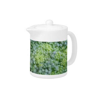 Broccoli Macro Teapot