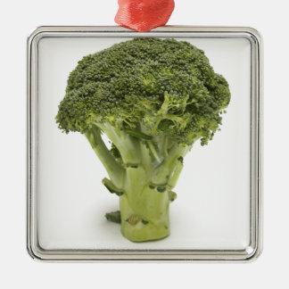 Broccoli Square Metal Christmas Ornament