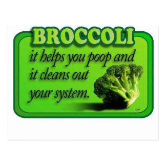 broccoli postcards