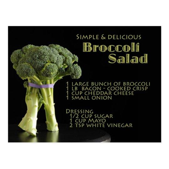Broccoli Recipe Postcard