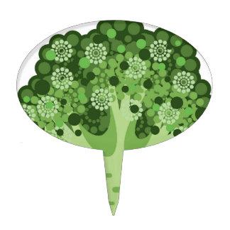 Broccoli Vector Icon Cake Topper