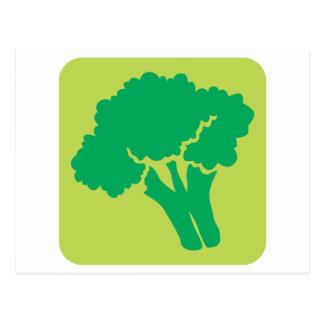 Broccoli Vegetable Icon Postcard