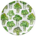 Broccolli - formal dinner plate
