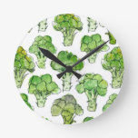 Broccolli - formal round clock