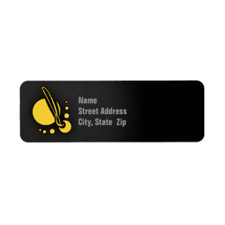 Brocha ambarina amarilla del artista etiquetas de remite