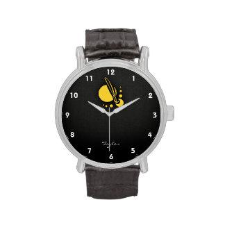 Brocha ambarina amarilla del artista relojes