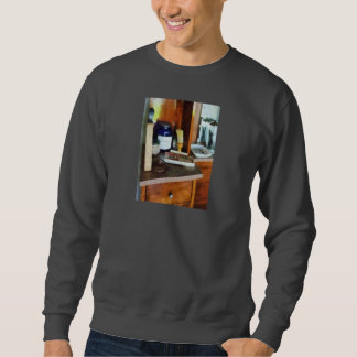 Brocha de afeitar y caja de peines suéter