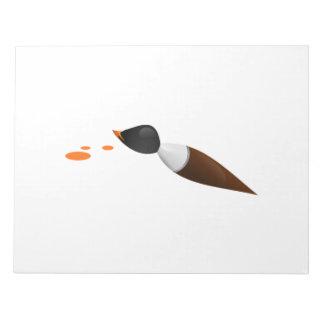 Brocha del arte bloc de papel