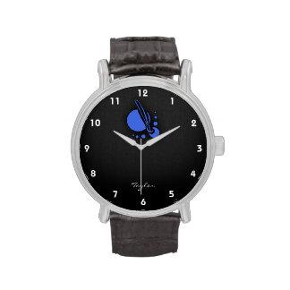 Brocha del artista del azul real relojes