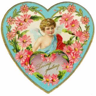 Brocha del Pin de la tarjeta del día de San Valent Pin Fotoescultura