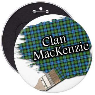 Brocha del tartán de MacKenzie del clan Pin Redondo 15 Cm