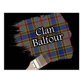 Brocha escocesa del tartán de Balfour del clan Tarjetas Postales