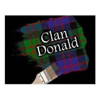 Brocha escocesa del tartán de Donald del clan Postal