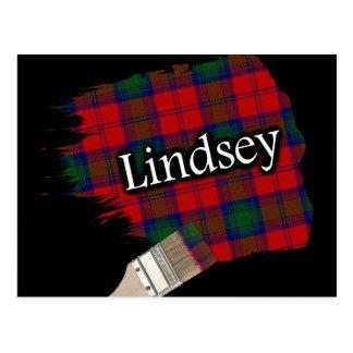 Brocha escocesa del tartán de Lindsey Lindsay del Tarjetas Postales