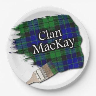 Brocha escocesa del tartán de MacKay del clan Platos De Papel