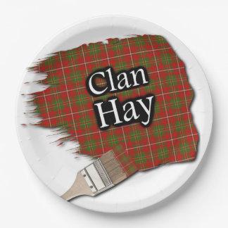 Brocha escocesa del tartán del heno del clan platos de papel