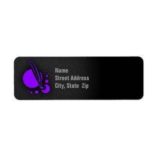 Brocha púrpura violeta del artista etiqueta de remitente