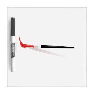 Brocha roja pizarras blancas