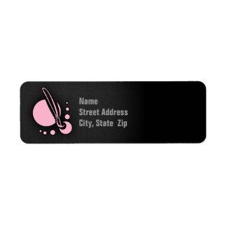 Brocha rosa clara etiquetas de remite