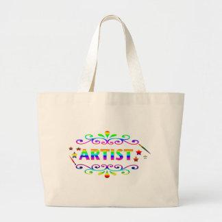 Brocha y diseño del artista bolsas de mano