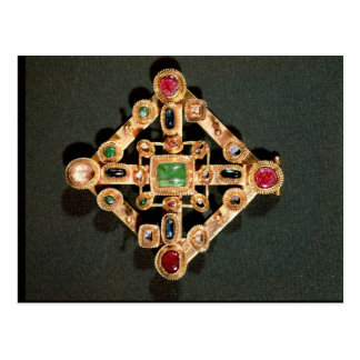 Broche bajo la forma de cruz griega tarjetas postales