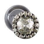 Broche de la bisutería del vintage del diamante ar pin