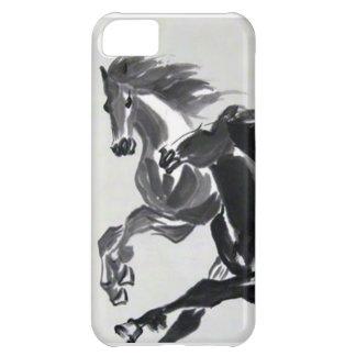 Broche de la cubierta del caso del caballo del iPh Funda Para iPhone 5C