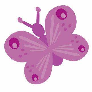 Broche de la mariposa de la lila esculturas fotográficas