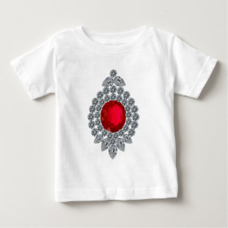 Broche de rubíes playera de bebé