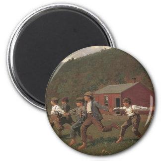 Broche de Winslow Homer el azote, 1872 Imán Redondo 5 Cm