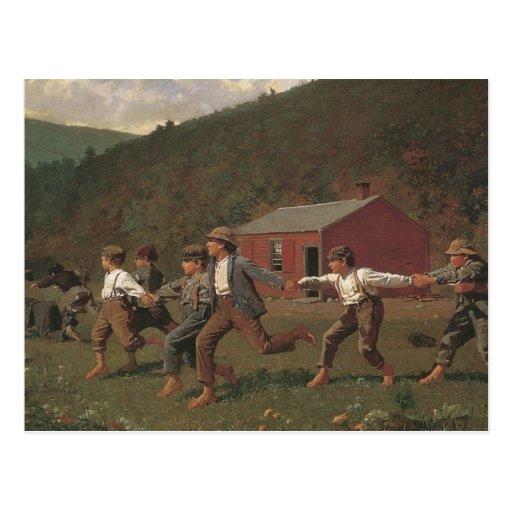 Broche de Winslow Homer el azote Tarjetas Postales