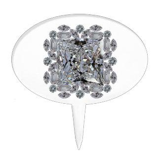 Broche del diamante del regalo decoración para tarta