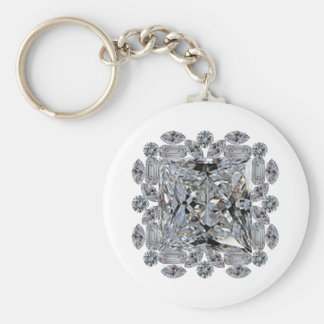 Broche del diamante del regalo llavero redondo tipo pin