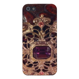 Broche del vintage en el caso de cuero del iPhone  iPhone 5 Carcasa
