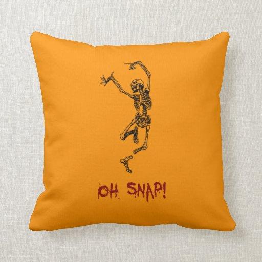 Broche divertida del esqueleto del baile oh cojin