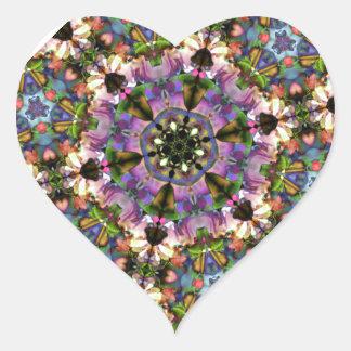 Broche psicodélica del triángulo púrpura/azul del pegatina en forma de corazón