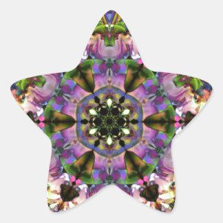 Broche psicodélica del triángulo púrpura/azul del pegatina en forma de estrella