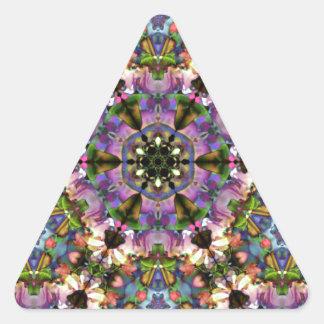 Broche psicodélica del triángulo púrpura/azul del pegatina triangular